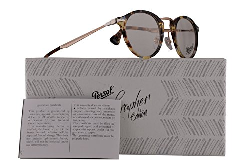 Persol PO3167V Calligrapher Edition Eyeglasses 47-22-145 Colorful Havana w/Demo Clear Lens 1058 PO 3167-V PO3167-V PO 3167V (Women For Persol Eyeglasses)