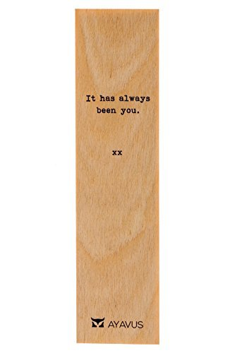 It Has Always Been You - Wooden Bookmark Minimalist Quotes Valentines Day Romance Gift Romantic Quote Heart Lovers Anniversary Gift from AYAVUS