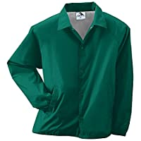 Augusta Sportswear Unisex-Adult Nylon Coach's Chaqueta /Forro, Verde oscuro, Mediano
