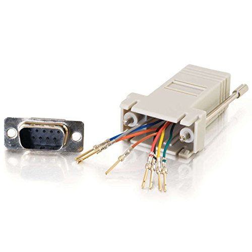 C2G/Cables to Go 02945 RJ45 to DB9 Male Serial RS232  Modular Adapter (To Go Cables Connector)