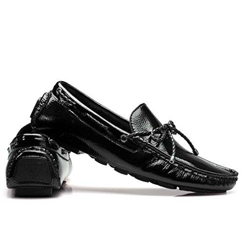 ZXCV Zapatos al aire libre Conducir los zapatos de los hombres brillantes y sencillos transpirables salvajes moda casual zapatos Negro