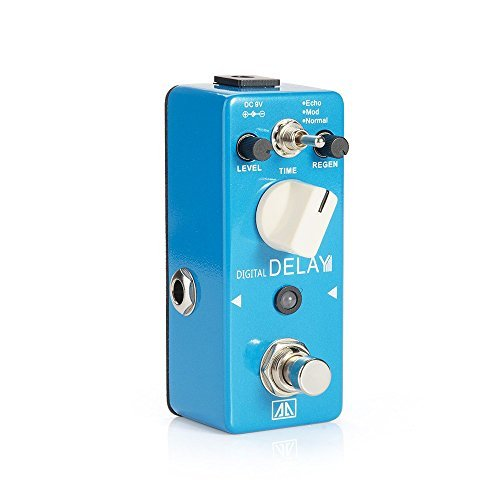 AA - APE-5 Mini Portable Digital Delay Guitar Effects Pedal - 3 Modes Delay Effects Normal,Mod,Echo for Guital Bass by AA Audio