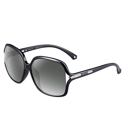 Gray Grandes dames cadre lunettes soleil lunettes de polarisées Tq80T