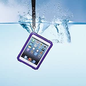 Waterproof Clear Transparent Hard Case Cover For iPad Mini --- Color:Blue