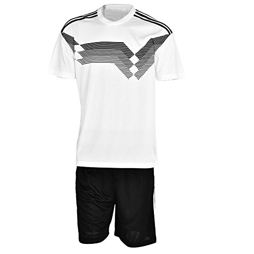 VGEBY Soccer Uniform Kit, Breathable Short-Sleeve Football Uniforms Jersey and Shorts Set(Germany-L) ()