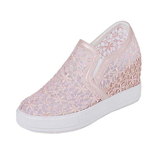 Coolcept Women Summer Platfrom Sneakers Shoes Pink-2 jsQpzN
