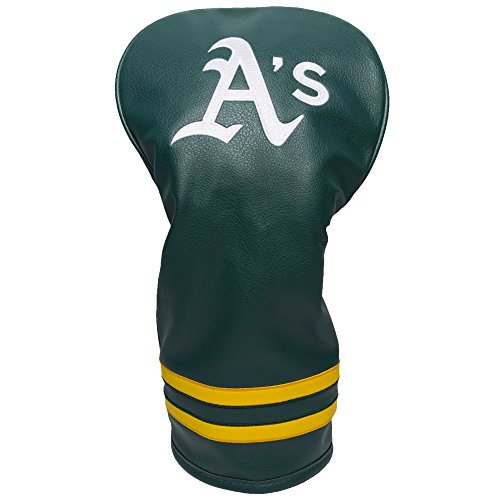 Team Golf MLB Oakland Athletics Vintage Driver Golf Club Headcover, Form Fitting Design, Retro Design & Superb Embroidery