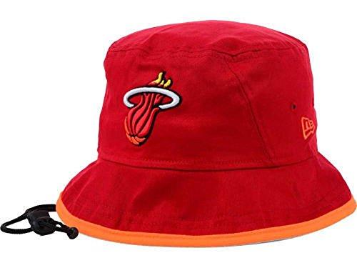 New Era NBA Miami Heat Basic Tipped Bucket Hat Red (Medium)