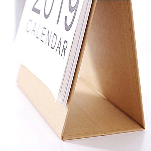 JUNDA Desk Pad Calendars,Twin-Wire Binding,July 2018 - December 2019,Monthly Planners for Office,School,Family,15x24x7CM,Pack of 2 by JUNDA (Image #5)