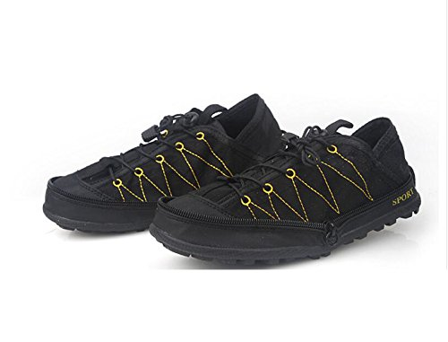 Black Compression Lesisure Ultra Leisure Sneakers Soft Shoes Sums Mens Breathable Foldable Shoes Travel HBRwnqT