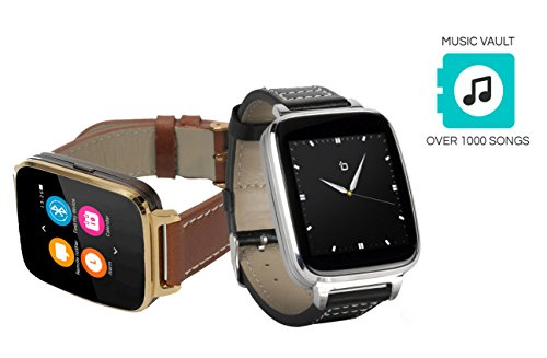 Bit Smart Watch for Apple/Android Phones. 8GB of Music Storage. Silver with...