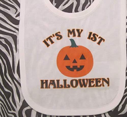 - First Halloween baby bib 1st Halloween bib Halloween baby boy Halloween baby girl pumpkin baby bib pumpkin bib, halloween baby clothes