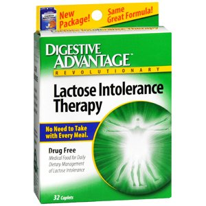 LACTOSE INTOLERANCE CAPLET 32 CAPSULES by GANEDEN BIOTECH, INC. *****