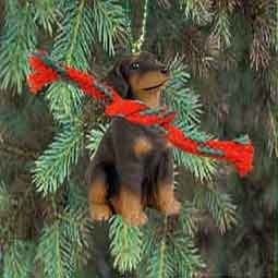 Amazoncom Doberman Pinscher Miniature Dog Ornament Uncropped