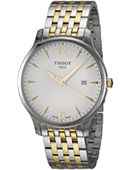 Tissot T-Classic Tradition White Dial Two Tone Mens Watch T0636102203700