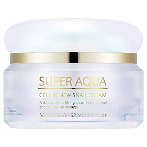 Amazon Com Missha Super Aqua Cell Renew Snail Cream 52ml Anti Aging And Brightening Formula With 65 Snail Slime Extract Providing Premium Solution To Damaged Skin Beauty