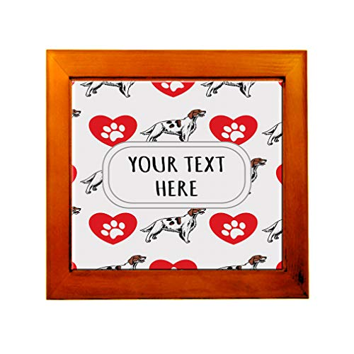 Ceramic Tile in Wood Frame Custom Irish Red and White Setter Dog Pattern D Adults (Irish Red And White Setter For Sale)