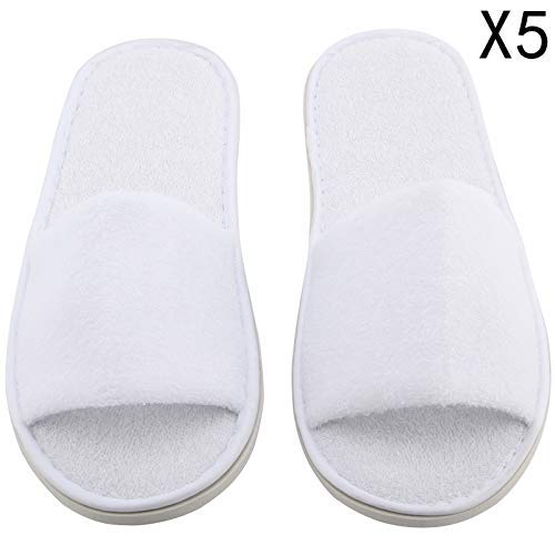 d85a28d3faf AllRight 5 Pairs Hotel Slippers Open Toe Disposable Spa Slippers   Amazon.co.uk  Kitchen   Home