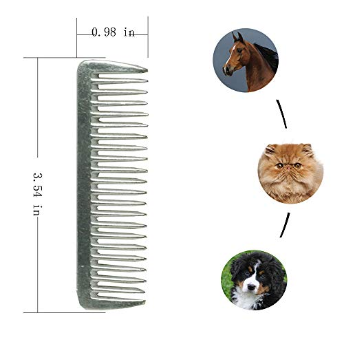- SXYH 3PCS Stainless Metal Pulling Combs Horse Mane Tail Mini Pocket Combs 4013 ...