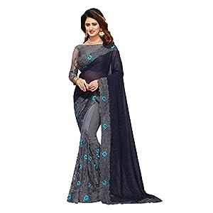 I-Brand Banarasi satin with Blouse Piece Saree