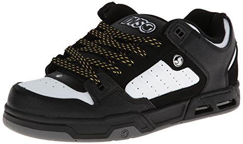 DVS Men's Militia Heir Action Sports Shoe,Black/White Nubuck,8.5 M (Action Sports Footwear)