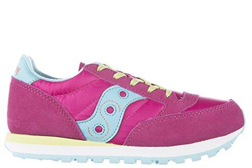 Saucony Sneakers Kinder Schuhe Mädchen Wildleder Turnschuhe jazz rosa IYddjFaA