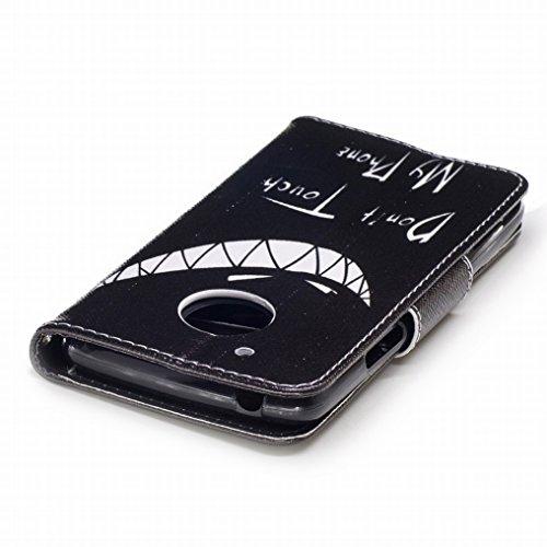 Custodia Motorola Moto G5 Cover, Ougger Freddo Stile Portafoglio PU Pelle Magnetico Stand Morbido Silicone Flip Bumper Protettivo Gomma Shell Borsa Custodie con Slot per Schede