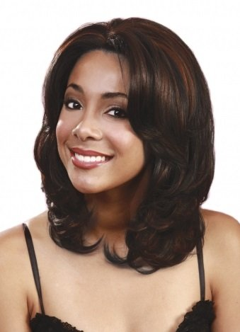 BOBBI BOSS Lace Front Wig - MLF12 PEACH - Color #4 - Light Brown -