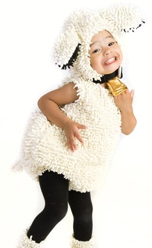 [Princess Paradise Baby's Lovely Lamb Deluxe Costume, As Shown, 3T-4T] (Four Group Costumes)