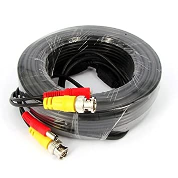 Kabalo 30m CCTV Camera BNC Video & DC Power Surveillance Cable DVR RCA Cable Wire Lead