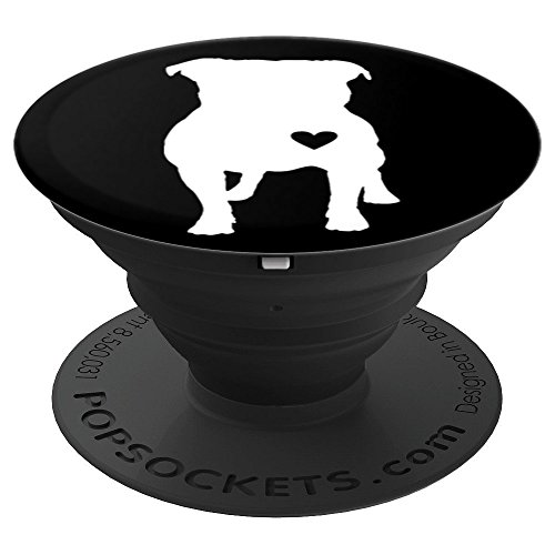 Bull Pit Rottweiler - I Love My Pitbull For Best Pit Dad or Pitbull Mom Ever - PopSockets Grip and Stand for Phones and Tablets