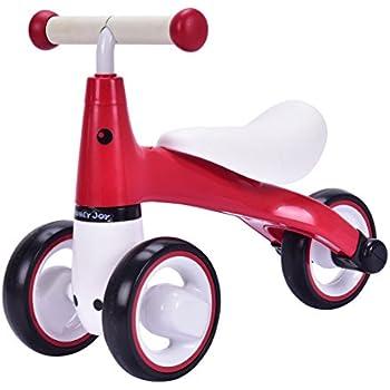 Baby Balance Bike Bicycle Mini Kids Walker Toddler Toys Rides No-Pedal Pink