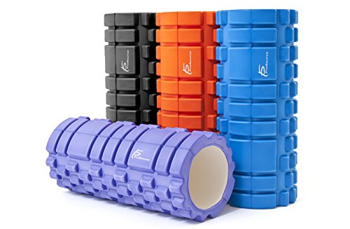 """ProSource Sports Medicine Foam Roller 33 cm x 15 cm/ 61 cm x 15 cm (13"""" x 6"""" / 24"""" x 6"""" ) with 2 Density Zones for Deep Tissue Massage and Trigger Point Muscle Therapy, Multiple Colors"""
