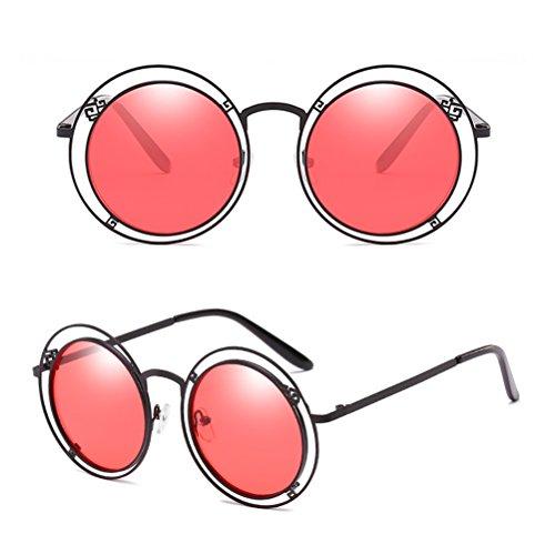 pour des Irrégulière de Hommes de de des Lunettes et Sunglasses Motif Red Double Gradient Zhhlaixing de Géométrique Géométrique Couleur Soleil Unisexe Femmes 4q06U6