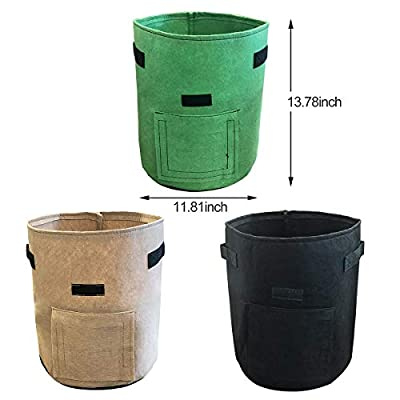 Nicheo 3 Pcs 6.5 Gallon Garden Boxes, Easy to Harvest, Planter Pot with Flap and Handles, Garden Planting Grow Bags for Potato Tomato and Other Vegetables, Breathable Nonwoven Fabric Cloth. : Garden & Outdoor