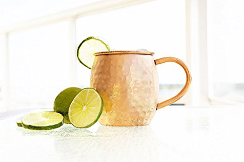 12 PACK Alchemade Copper Barrel Mug for Moscow Mules - 16 oz - 100% Pure Hammered Copper - Heavy Gauge by Alchemade (Image #1)