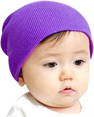 elacoベビービーニーBoy Girlsソフト帽子子供冬暖かいキッズニットキャップ