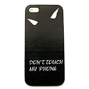QHY Do Not Touch My Phone Pattern Hard Case for iPhone 4/4S