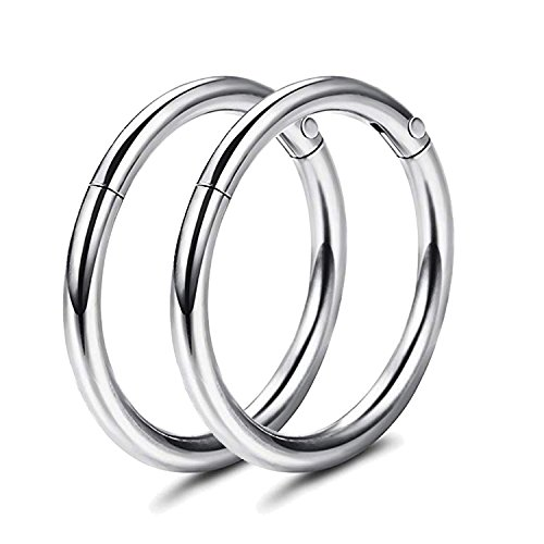 Adramata 16g Cartilage Hoop Earrings for Men Women Septum Tragus Daith Earrings Nose Piercing Jewelry by Adramata (Image #1)