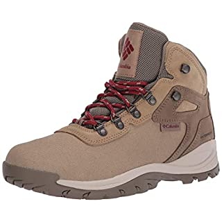 Columbia Women's Newton Ridge LT Waterproof Hiking Boot, Beach/Marsala red, 7 Regular US