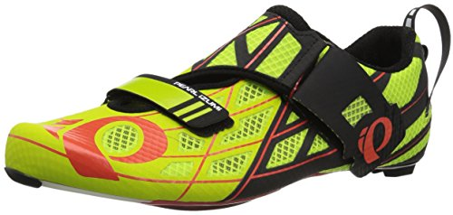 Pearl Izumi Tri Fly Pro v3 Cycling-Footwear, Lime Punch/Black, 48 EU/13 D US