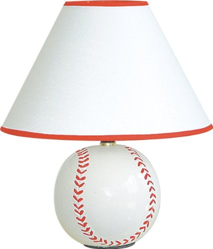 H.p.p Inc 12''h Ceramic Sports Baseball Table Lamp