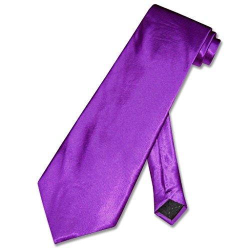 - Covona NeckTie Solid PURPLE Indigo Violet Color Men's Neck Tie