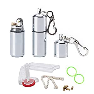EDC Waterproof Lighter - 2 Pack Peanut Lighter for Survival and Emergency Use Bonus Inculded 6 Lighter flint, 1 Windproof wick, 2 Waterproof O-ring