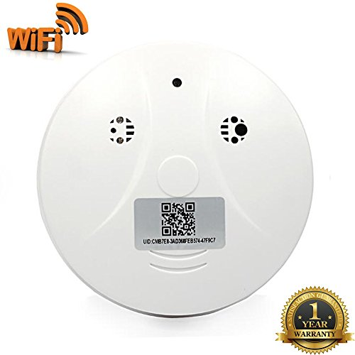 U-sepro WiFi Hidden Camera Spy Smoke Detector Full HD 1080P Motion Activated Video Recorder Mini Surveillance Nanny Security Camera for iPhone ,