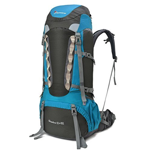 Mountaintop 60L Water Resistant Hiking Backpack Trekking Bag Backpacking Climbing Camping Travel For Mountaineering With Rain