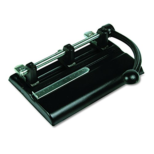 Master Adjustable 40-Sheet 3-Hole Punches with Power Handle, Black (MAT1340PB) by Master Products