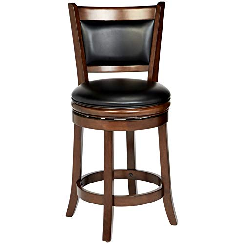 Ball & Cast Counter Stool - 24 Inch Seat Height, Cappuccino (24 Swivel Bar In Stools)