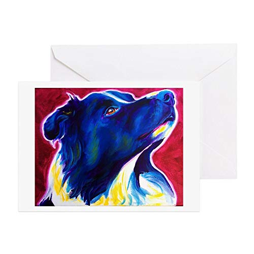 CafePress Border Collie #1 Greeting Card (10-pack), Note Card with Blank Inside, Birthday Card Glossy