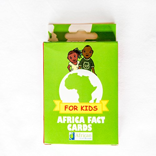 Africa Educational Kids Flash Cards - 54 Facts to learn or teach about the - Card Africa